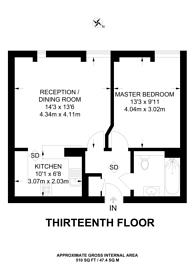 Large floorplan for City House, Croydon, CR0