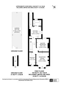 Large floorplan for Elmsleigh Road, Twickenham, TW2