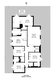 Large floorplan for Carnwath Road, Hurlingham, SW6