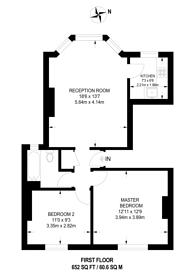 Large floorplan for Bonham Road, Brixton, SW2
