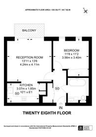 Large floorplan for Pan Peninsula Square, Isle Of Dogs, E14