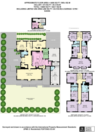 Large floorplan for Linnell Drive, Hampstead Garden Suburb, NW11