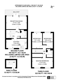 Large floorplan for Brunswick Road, Sutton, SM1