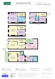 Large floorplan for Upper Montagu Street, Marylebone, W1H