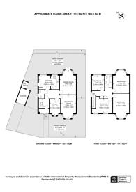 Large floorplan for Barn Rise, Wembley Park, HA9