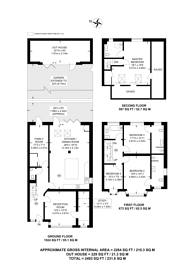 Large floorplan for Cherrywood Lane, Raynes Park, SM4