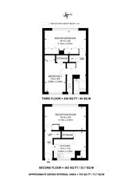 Large floorplan for Clarence Lane, Putney, SW15
