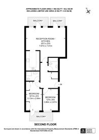 Large floorplan for Goodhart Place, Limehouse, E14