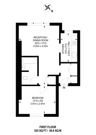 Large floorplan for Stockwell Road, Stockwell, SW9