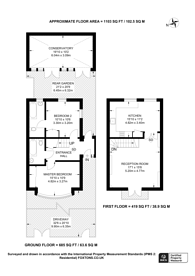 Large floorplan for Priory Road, South Hampstead, NW6