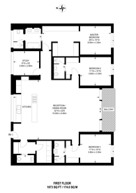 Large floorplan for Aybrook Street, Marylebone, W1U