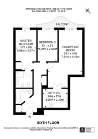 Large floorplan for Kensington Westside, Earls Court, W14
