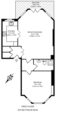 Large floorplan for Brechin Place, South Kensington, SW7