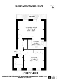 Large floorplan for York Road, Battersea, SW11
