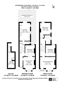 Large floorplan for Mirabel Road, Fulham Broadway, SW6