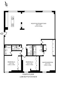 Large floorplan for Marshall Street, Soho, W1F