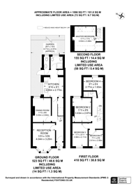 Large floorplan for Edinburgh Road, Plaistow, E13