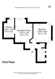 Large floorplan for Grosvenor Gardens, Willesden Green, NW2