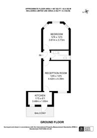 Large floorplan for Cavendish Road, Brondesbury Park, NW6