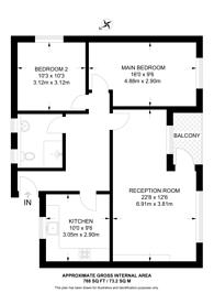 Large floorplan for Murray Grove, Hoxton, N1