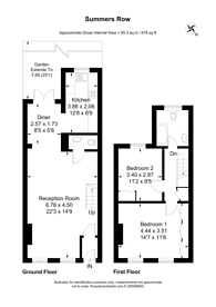 Large floorplan for Summers Row, North Finchley, N12