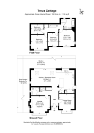 Large floorplan for Tudor Road, High Barnet, EN5