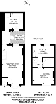 Large floorplan for Trinity Road, Richmond, TW9