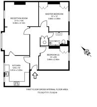 Large floorplan for Peterborough Villas, Fulham Broadway, SW6