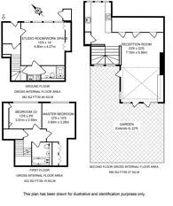 Large floorplan for Moseley Row, Greenwich, SE10