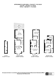 Large floorplan for Epirus road, Fulham Broadway, SW6