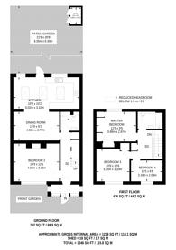 Large floorplan for Deeside Road, Earlsfield, SW17
