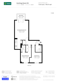 Large floorplan for Naxos Building, Canary Wharf, E14