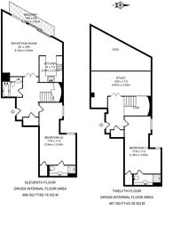 Large floorplan for Sunderland Point, Gallions Reach, E16