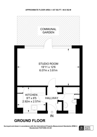Large floorplan for Lever Street, Clerkenwell, EC1V