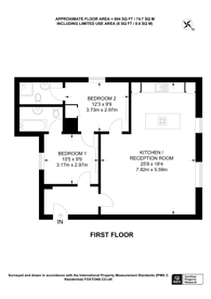 Large floorplan for Banister Road, Kensal Rise, W10