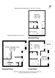 Large floorplan for Octavia Mews, Maida Vale, W9