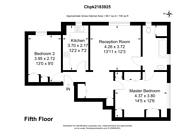 Large floorplan for Pembroke Road, High Street Kensington, W8