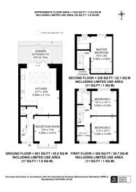 Large floorplan for Seely Road, SW17, Tooting, SW17