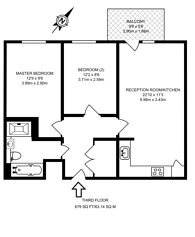 Large floorplan for Nelsons Walk, Bow, E3
