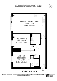 Large floorplan for Fairfield Road, Central Croydon, CR0