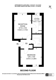 Large floorplan for Armoury Road, Deptford, SE8