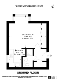 Large floorplan for Oak Lane, Isleworth, TW7