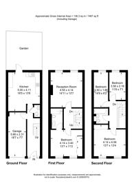 Large floorplan for Hogarth Close, Ealing, W5