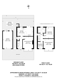 Large floorplan for Beechcroft Drive, Guildford, GU2