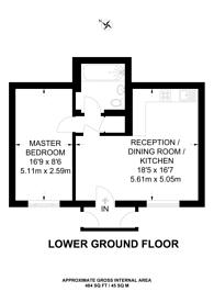 Large floorplan for Oxford Road, Ealing Broadway, W5
