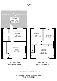 Large floorplan for New Close, Merton, SW19