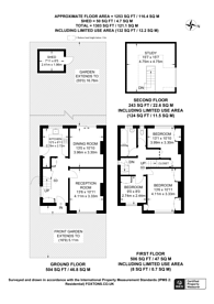 Large floorplan for Harley Close, Wembley, HA0