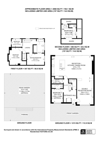 Large floorplan for Canonbury Park South, Islington, N1