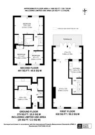 Large floorplan for Cinnamon Row, Battersea, SW11