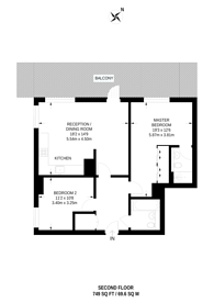 Large floorplan for Province Square, Poplar, E14